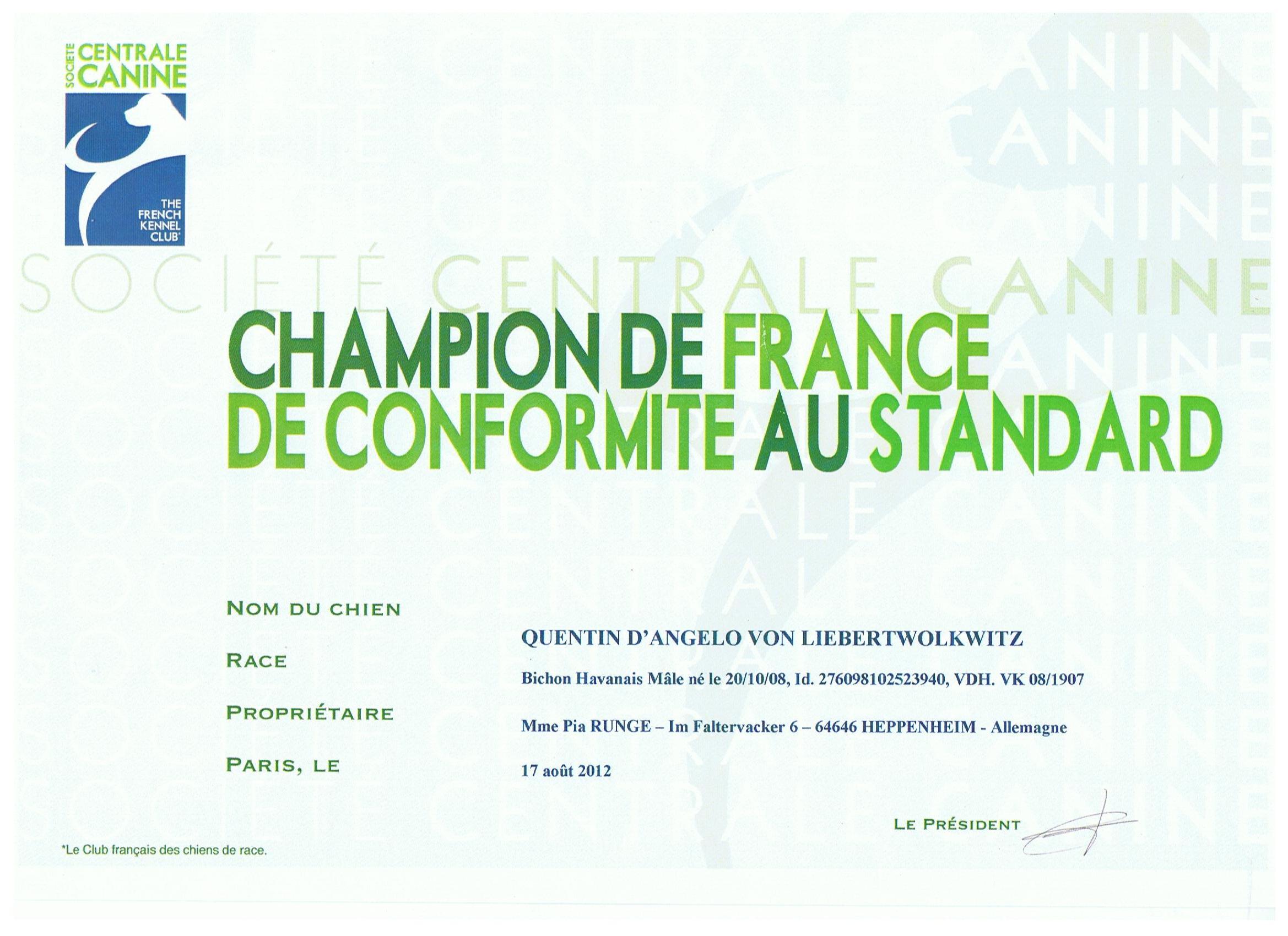Diego Französischer Champion