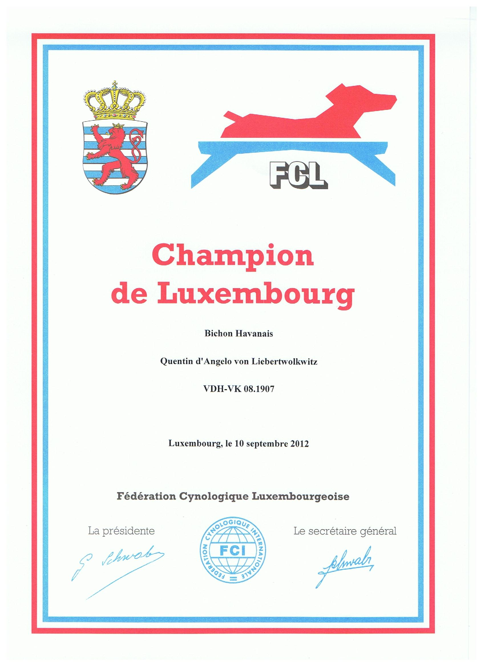 Diego Luxembourg Champion