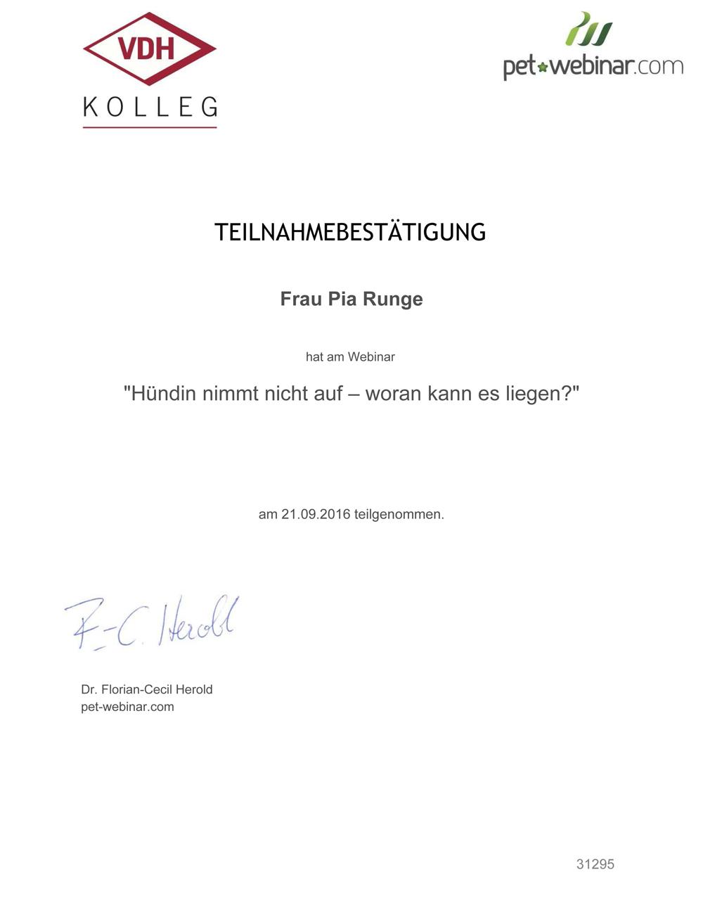 Pia-certificate