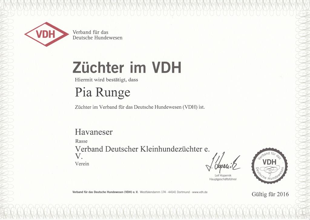 Züchter im VDH 2016