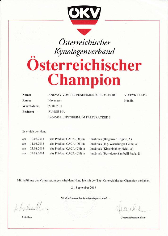 Anevay ÖKV-Champion