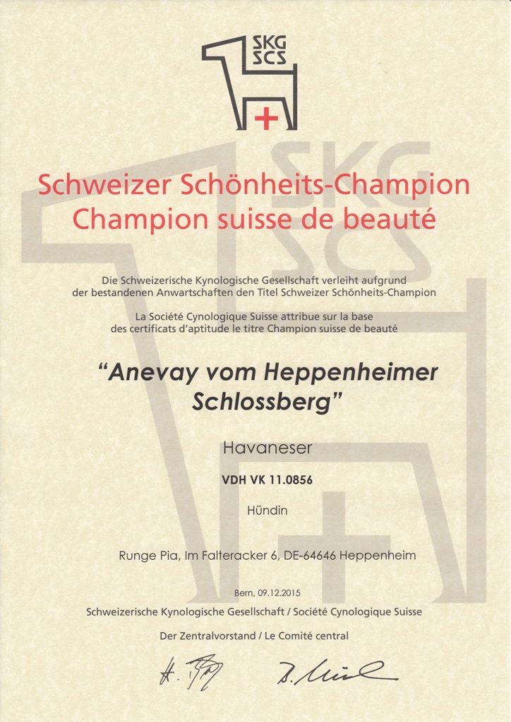 Anevay Swiss Champ
