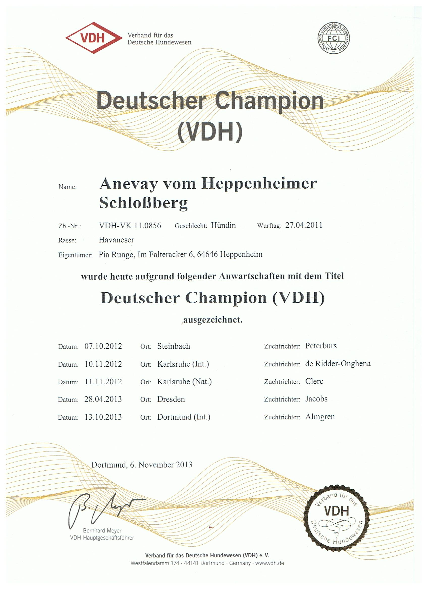 Anevay VDH Champ