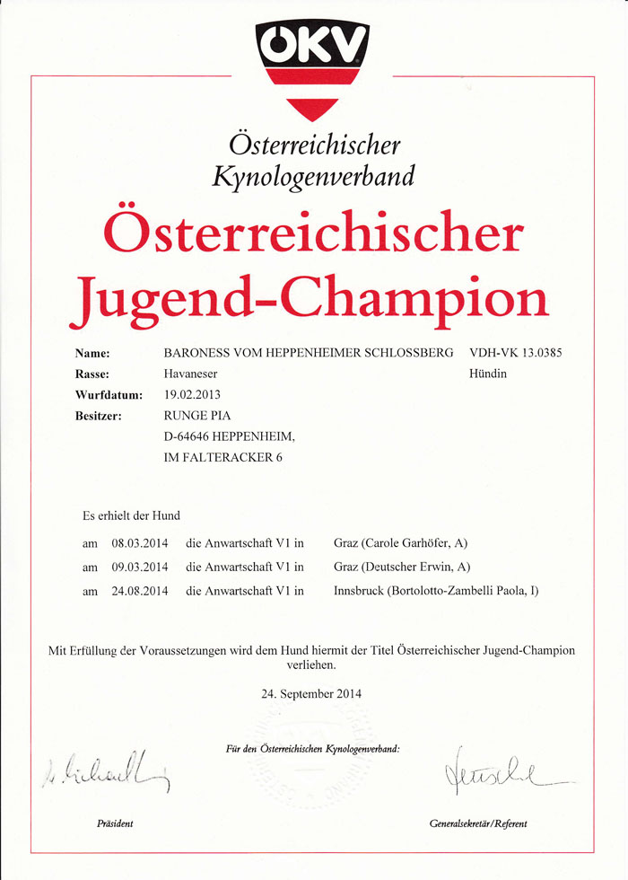 Juliette ÖKV J-Champion