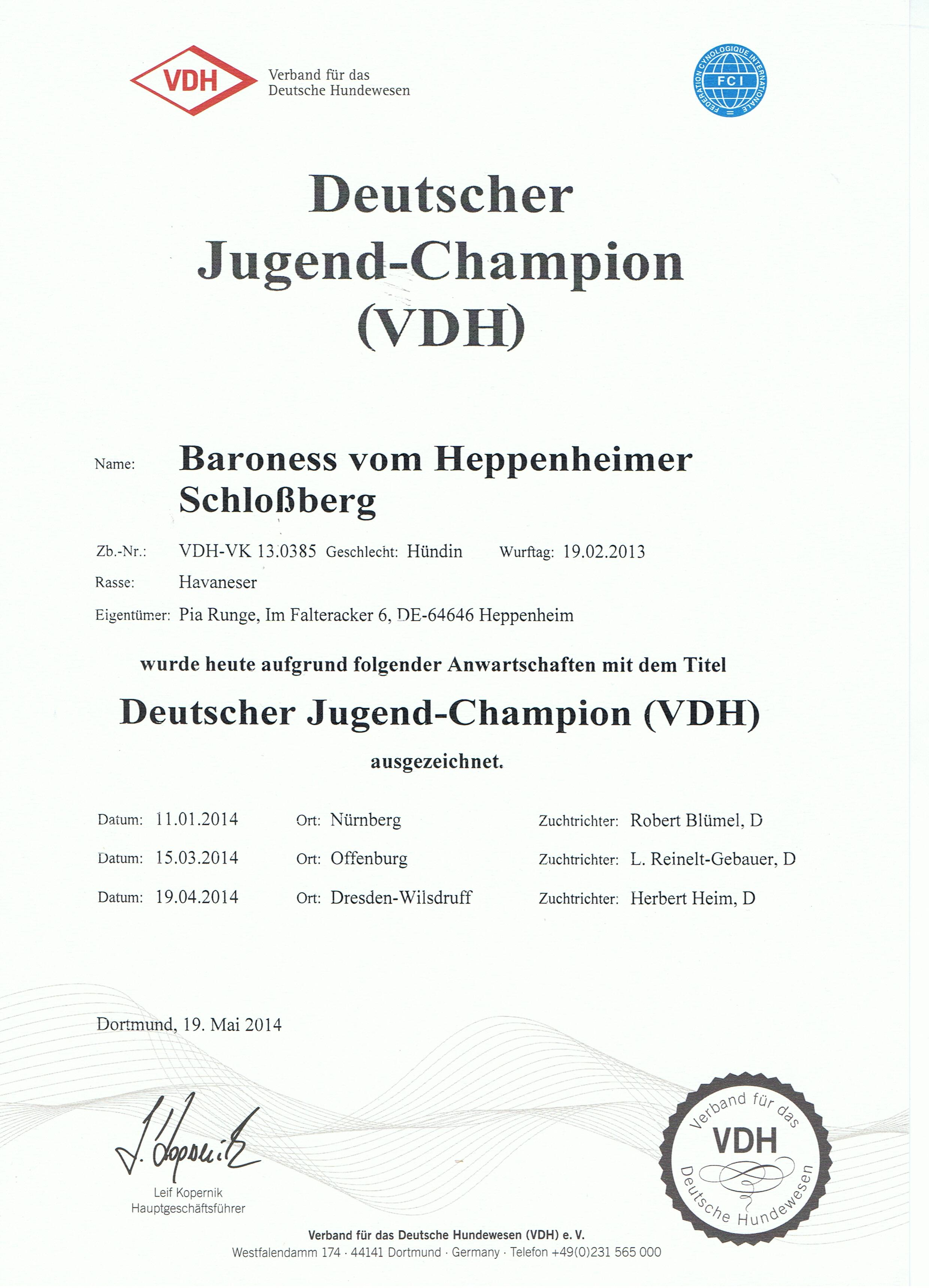 Juliette JChamp VDH