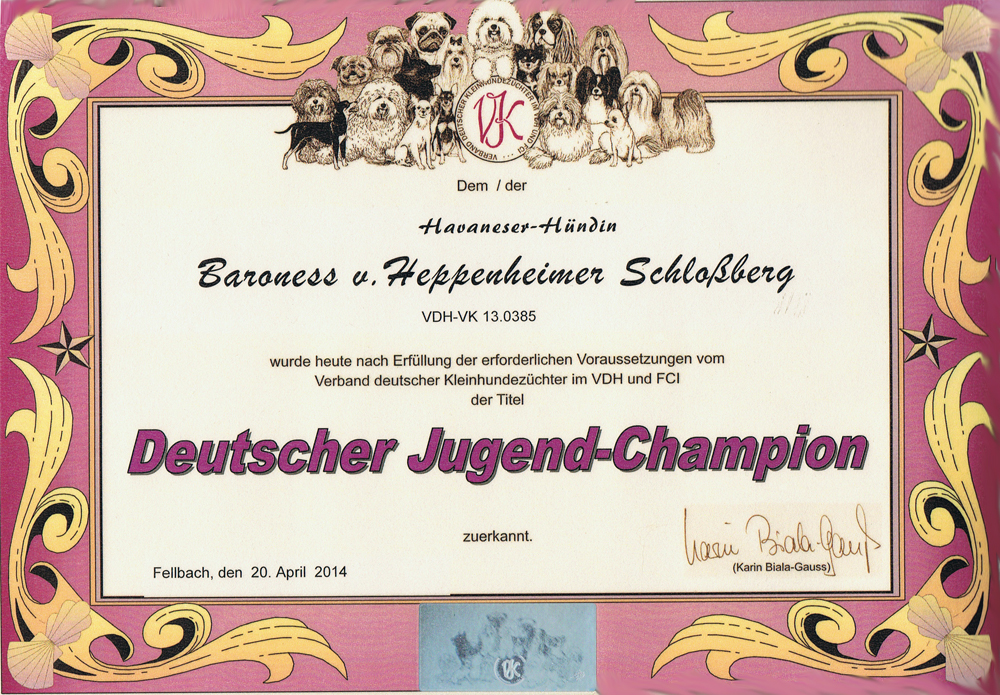 Juliette VK Jugend Champion